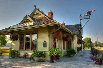 Photograph - Saint Charles Station by Steve Stuller