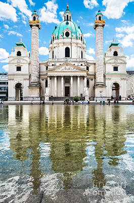 Austrian Photograph - Saint Charles's Church  by JR Photography