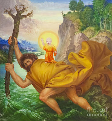 Saint Christopher By Otto Dix Art Print by Roberto Morgenthaler
