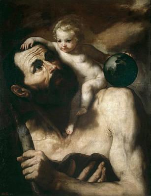 Saint Christopher Painting - Saint Christopher by Jusepe de Ribera