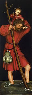 Saint Christopher Painting - Saint Christopher by Lucas Cranach the Elder
