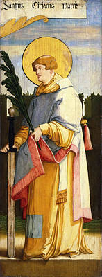Catholic For Sale Painting - Saint Ciriacus by Master of Messkirch