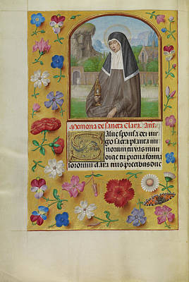 Prayer Drawing - Saint Clara With A Monstrance Workshop Of Master by Litz Collection