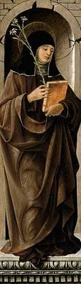 1470 Painting - Saint Clare by Francesco del Cossa