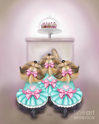 Painting - Saint Cupcakes by Catia Cho