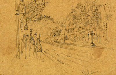 Baltimore Drawing - Saint Dennis Post-office, Baltimore County, Maryland by Quint Lox