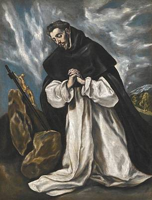 Abstract People Painting - Saint Dominic In Prayer by El Greco