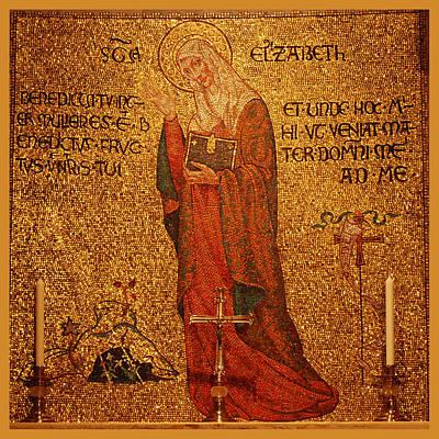 Saint Elizabeth Altar Art Print by Philip Ralley