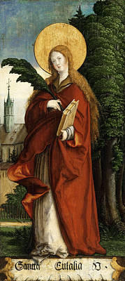 Catholic For Sale Painting - Saint Eulalia by Master of Messkirch