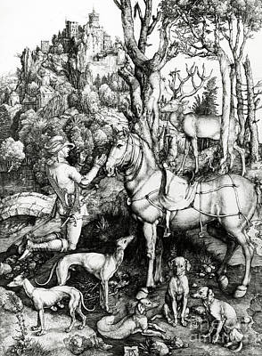 Saint Eustace Art Print by Albrecht Durer or Duerer