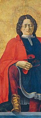 Catholic Icon Painting - Saint Florian by Francesco del Cossa