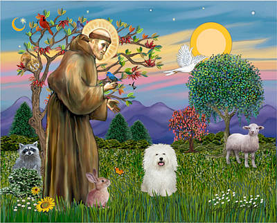 Digital Art - Saint Francis Blesses A Bolognese by Jean B Fitzgerald