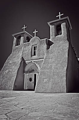 Photograph - Saint Francis In Black And White by Charles Muhle
