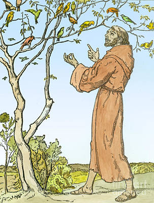 Saint Francis Of Assisi Art Print by Hellmut Eichrodt