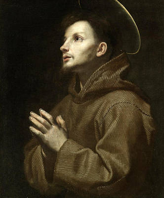 Catholic For Sale Painting - Saint Francis Of Assisi In Prayer by Lorenzo Lippi