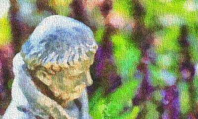 Gardener Mixed Media - Saint Francis Of Assisi In The Garden by Dan Sproul