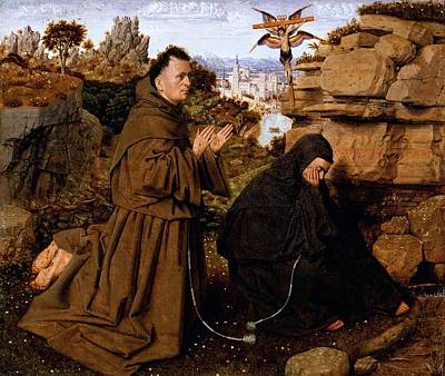Saint Francis Of Assisi Receiving The Stigmata Art Print by Jan van Eyck