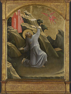 Saint Francis Receiving The Stigmata, Lorenzo Monaco Art Print