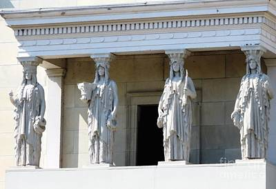 Photograph - Saint Gaudenss Eight Caryatid Figures Albright Knox Art Gallery Buffalo New York by Rose Santuci-Sofranko