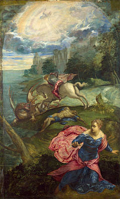 Saint George Painting - Saint George And The Dragon by Tintoretto