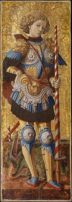 Masonite Painting - Saint George by Carlo Crivelli