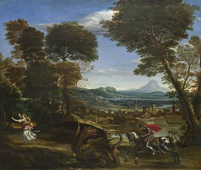 Painting - Saint George Killing The Dragon by Domenichino