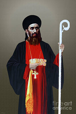 Mixed Media - Saint Gregorios Of Parumala by A Samuel