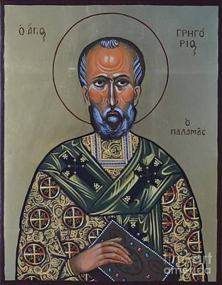 Egg Tempera Painting - Saint Gregory Icon by Kateryna Kurylo