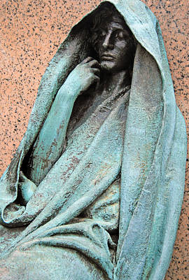 Photograph - Saint Guadens' The Adams Memorial Or Grief Up Close by Cora Wandel