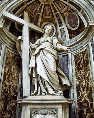 Vatican Photograph - Saint Helena - St Peters Basilica by Jon Berghoff