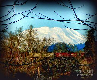 Photograph - Saint Helen's Mountain Train  by Susan Garren