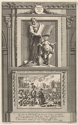 Saint Irenaeus Of Lyons, Church Father, Jan Luyken Art Print