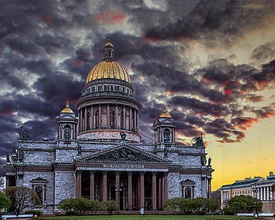 Photograph - Saint Isaac's Cathedral by Ludmila Nayvelt