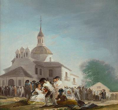 Hermitage Painting - Saint Isidore's Day At The Saint's Hermitage by Francisco Goya