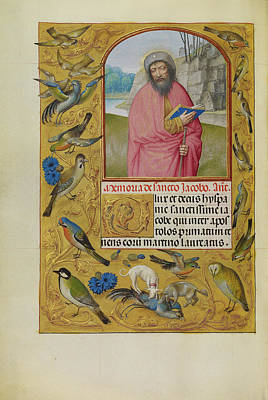Prayer Drawing - Saint James As A Pilgrim Workshop Of Master Of The First by Litz Collection