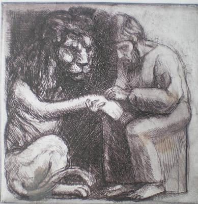 Saint Jerome And The Lion Original