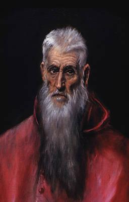 Stencil Art Painting - Saint Jerome by Celestial Images