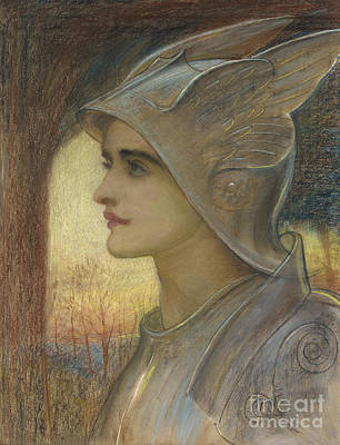 Armed Forces Painting - Saint Joan Of Arc by Sir William Blake Richomond