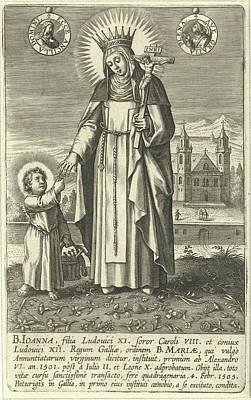 Saint Joan Of France, Adriaen Collaert Art Print
