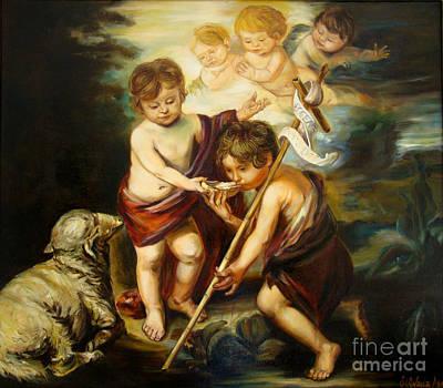 Painting - Saint John Baptist by Silvana Abel