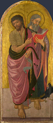 Painting - Saint John The Baptist And Saint John The Evangelist by Zanobi Machiavelli