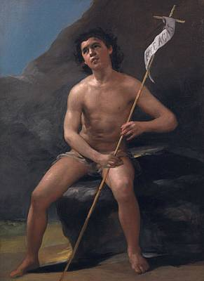 San Juan Painting - Saint John The Baptist As A Child In The Desert by Francisco Goya