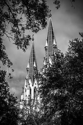 Photograph - Saint John The Baptist Cathedral In Black And White by Anthony Doudt