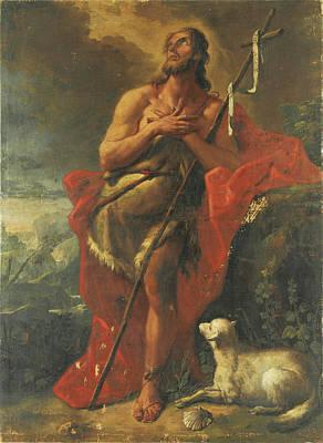 Painting - Saint John The Baptist by Gaspare Diziani
