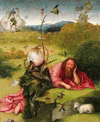 Saint John The Baptist In The Desert Art Print by Hieronymus Bosch