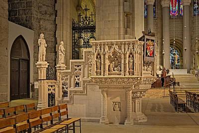 Saint John The Divine Cathedral Pulpit Art Print