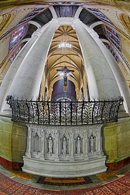 Photograph - Saint John The Divine Rear Altar View by Susan Candelario