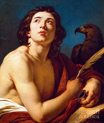 St John The Evangelist Painting - Saint John The Evangelist by Francois Andre Vincent