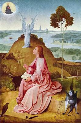 Berlin Germany Painting - Saint John The Evangelist On Patmos by Hieronymus Bosch