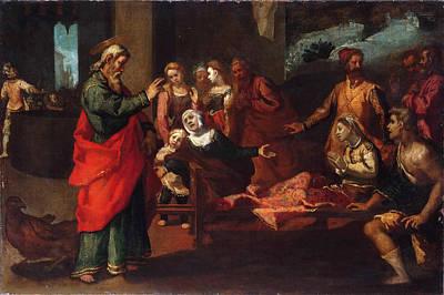 Religious Artist Painting - Saint John The Evangelist Reviving Drusiana by Andrea Boscoli